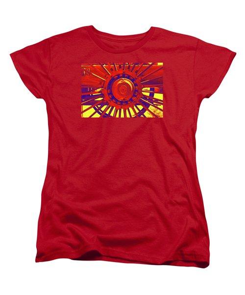Wagon Wheel Women's T-Shirt (Standard Cut) by Cynthia Powell
