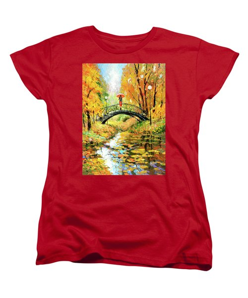Women's T-Shirt (Standard Cut) featuring the painting Waiting by Dmitry Spiros