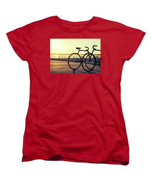 Waiting For A Rider Women's T-Shirt (Standard Cut) by Joseph S Giacalone