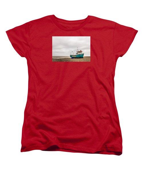 Waiting For The Tide Women's T-Shirt (Standard Cut) by David Warrington
