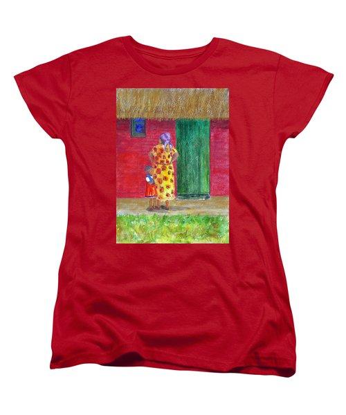 Waiting In Zimbabwe Women's T-Shirt (Standard Cut) by Patricia Beebe