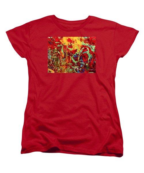 Walking In The Garden Women's T-Shirt (Standard Cut) by Natalie Holland