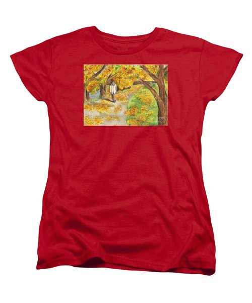 Women's T-Shirt (Standard Cut) featuring the painting Walking The Truckee River by Vicki  Housel