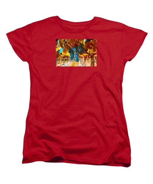 Walking Through The Grapes Women's T-Shirt (Standard Cut) by Lynn Hopwood
