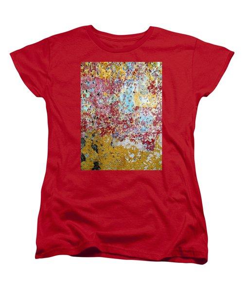 Wall Abstract 123 Women's T-Shirt (Standard Cut) by Maria Huntley