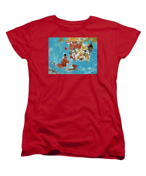 Women's T-Shirt (Standard Cut) featuring the photograph Wall Abstract 99 by Maria Huntley