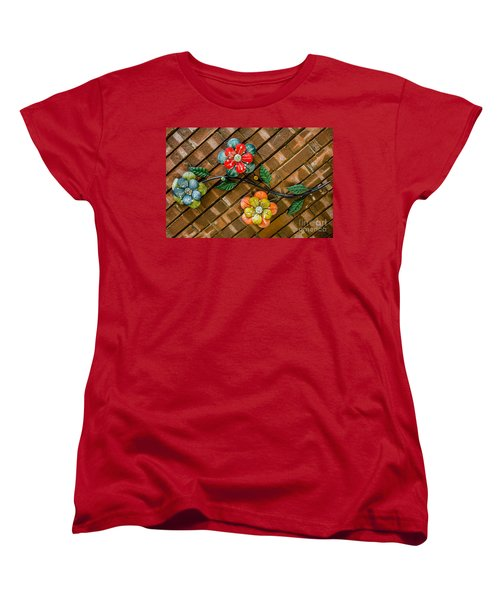 Wall Flowers Women's T-Shirt (Standard Cut) by Debra Martz
