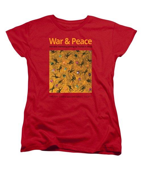 War And Peace T-shirt Women's T-Shirt (Standard Cut) by Thomas Blood