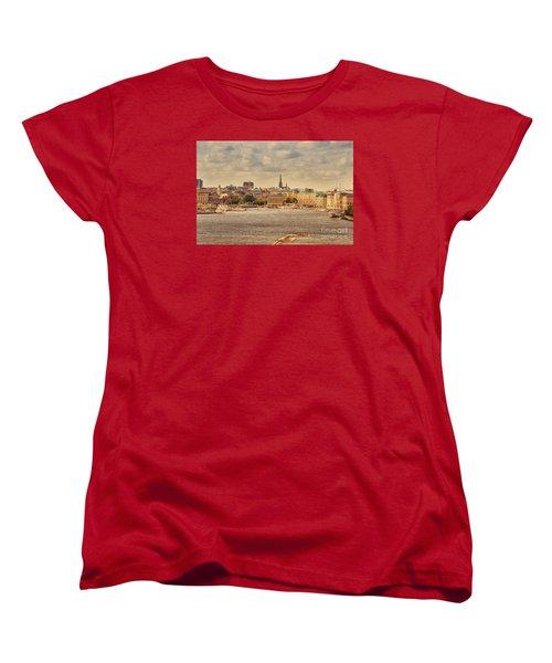 Warm Stockholm View Women's T-Shirt (Standard Cut) by RicardMN Photography