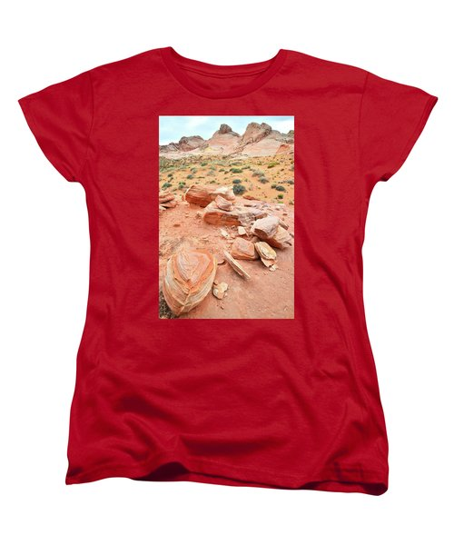 Women's T-Shirt (Standard Cut) featuring the photograph Wash 4 In Valley Of Fire by Ray Mathis