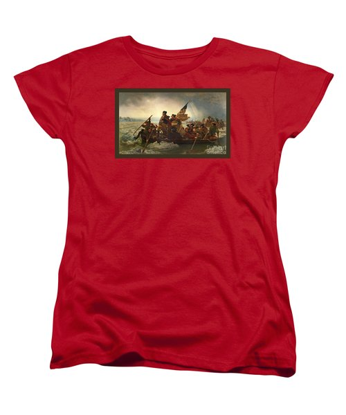 Washington Crossing The Delaware Women's T-Shirt (Standard Cut) by John Stephens