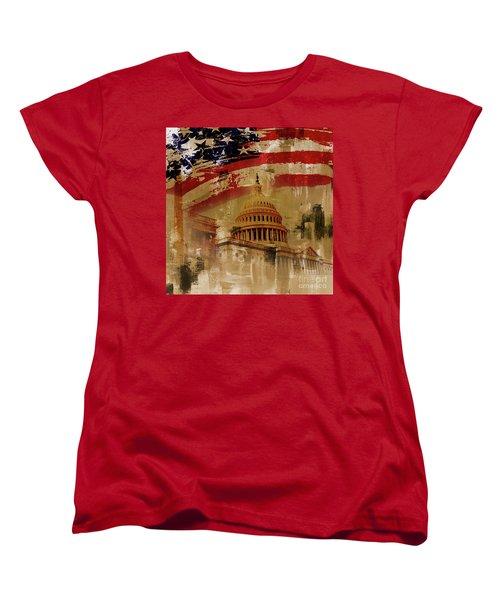 Washington Dc Women's T-Shirt (Standard Cut) by Gull G