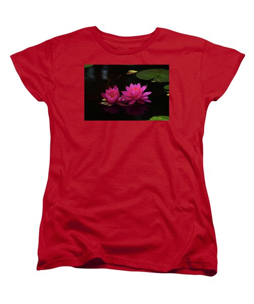 Water Lily Women's T-Shirt (Standard Cut) by Nancy Landry