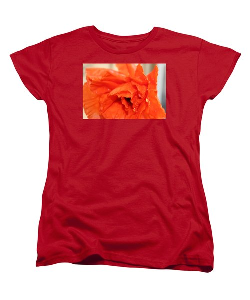 Women's T-Shirt (Standard Cut) featuring the photograph Water On Orange by Christin Brodie