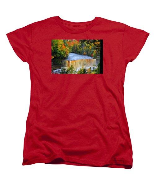 Waterfalls Of Michigan Women's T-Shirt (Standard Cut) by Michael Rucker