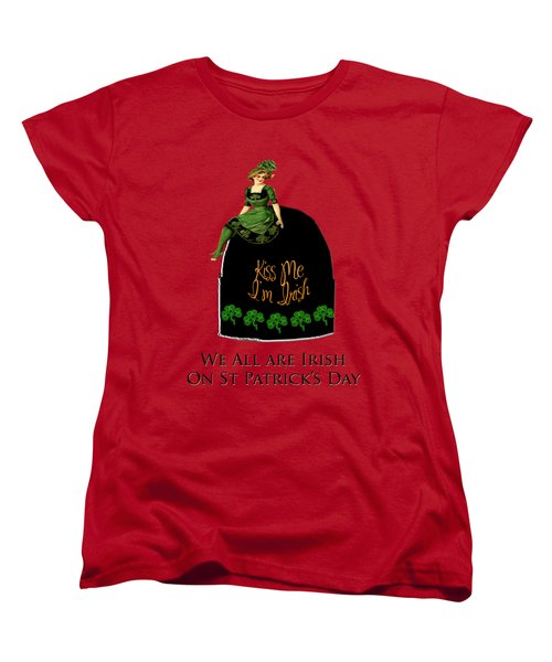 We All Irish This Beautiful Day Women's T-Shirt (Standard Cut) by Asok Mukhopadhyay