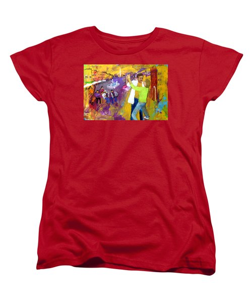 Women's T-Shirt (Standard Cut) featuring the painting We Tangoed On The Piazza Navono by Keith Thue