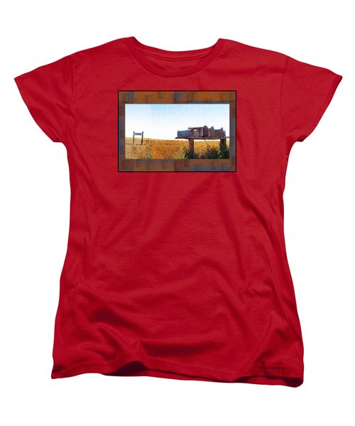 Women's T-Shirt (Standard Cut) featuring the photograph Welcome To Portage Population-6 by Susan Kinney