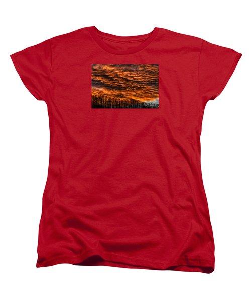 West Virginia Afterglow Women's T-Shirt (Standard Cut) by Thomas R Fletcher