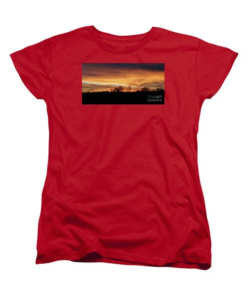 Women's T-Shirt (Standard Cut) featuring the photograph Western Sky December 2015 by J L Zarek