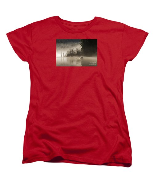 Women's T-Shirt (Standard Cut) featuring the photograph Westwood Lake by Inge Riis McDonald