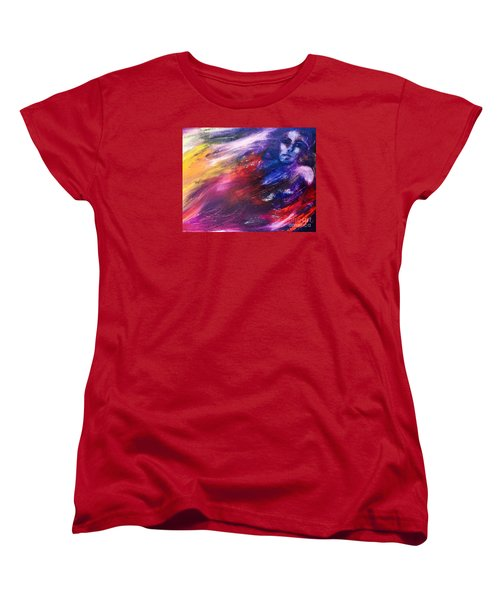 Women's T-Shirt (Standard Cut) featuring the painting What Hides  by Marat Essex