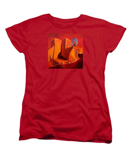 Women's T-Shirt (Standard Cut) featuring the painting When Jupiter Aligns With Mars by Art West