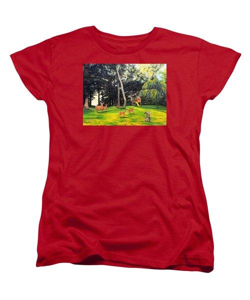 When World's Collide Women's T-Shirt (Standard Cut) by Kevin F Heuman