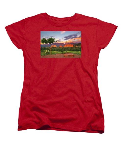 Women's T-Shirt (Standard Cut) featuring the photograph Where Beauty Overwhelms by Tim Reaves