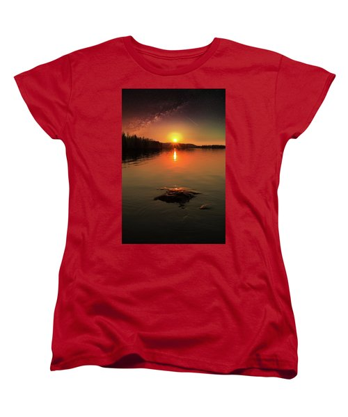 Where Heaven Touches The Earth Women's T-Shirt (Standard Cut) by Rose-Marie Karlsen