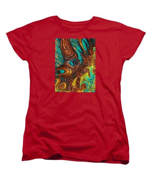 Women's T-Shirt (Standard Cut) featuring the photograph Where Liquid Copper And Water Meet by Ronda Broatch
