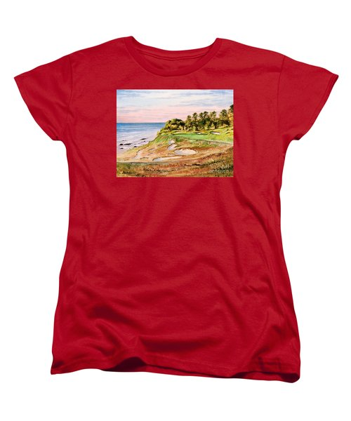 Whistling Straits Golf Course 17th Hole Women's T-Shirt (Standard Cut) by Bill Holkham
