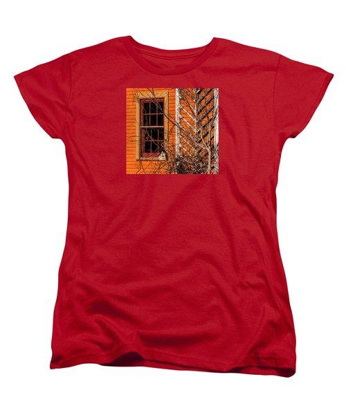 Women's T-Shirt (Standard Cut) featuring the photograph White Bird House by Trey Foerster