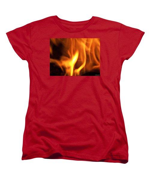 Women's T-Shirt (Standard Cut) featuring the photograph White Hot by Betty Northcutt