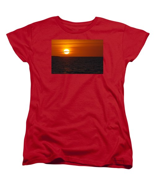 Women's T-Shirt (Standard Cut) featuring the photograph White Street Pier Sunrise by Greg Graham