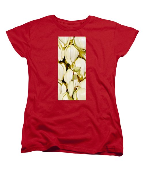 white Yucca flowers Women's T-Shirt (Standard Cut) by Werner Lehmann