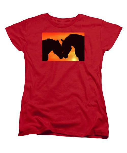 Wholeheartedly Women's T-Shirt (Standard Cut) by Iryna Goodall