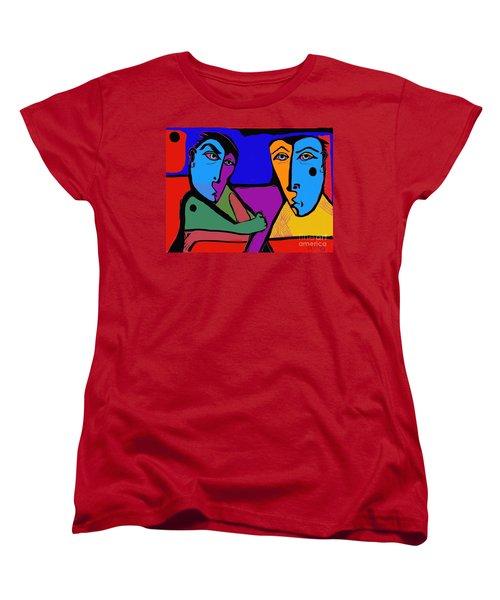Who's Doing This? Women's T-Shirt (Standard Cut) by Hans Magden
