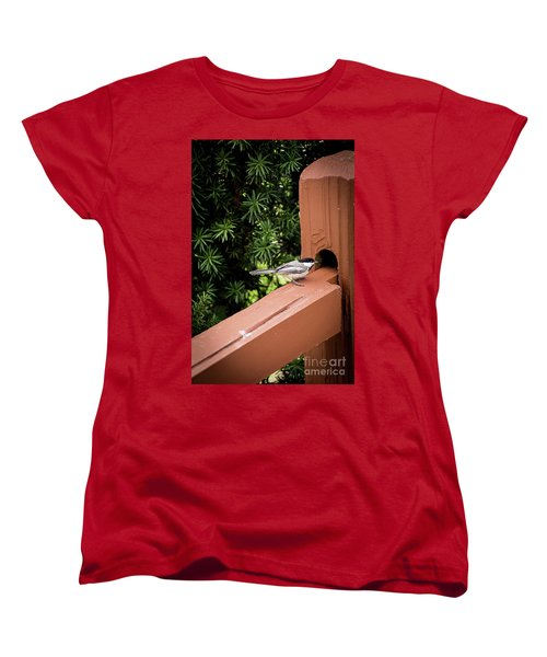 Who's In There? Women's T-Shirt (Standard Cut) by Deborah Klubertanz