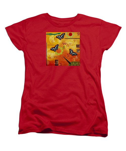 Women's T-Shirt (Standard Cut) featuring the mixed media Why by Gloria Rothrock