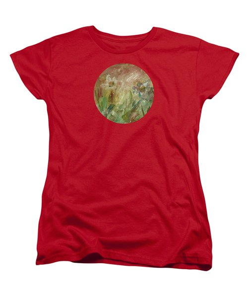Women's T-Shirt (Standard Cut) featuring the painting Wil O' The Wisp by Mary Wolf