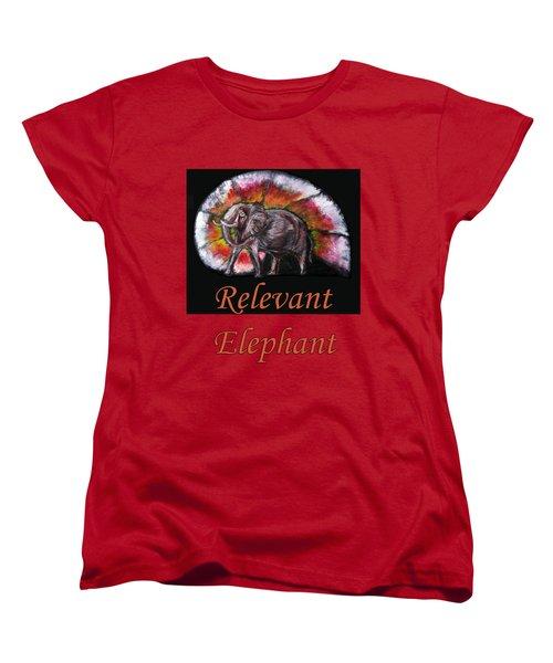 Wild Elephant Women's T-Shirt (Standard Cut) by Tom Conway