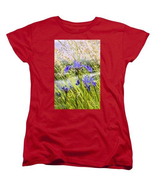 Wild Irises Women's T-Shirt (Standard Cut) by Marty Saccone