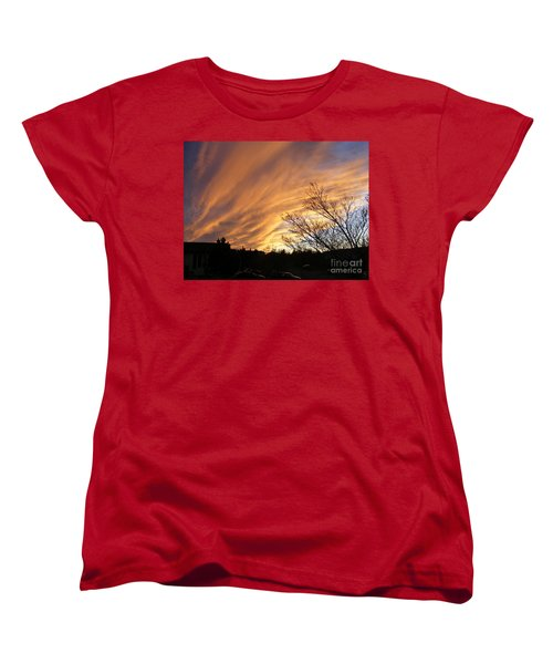 Wild Sky Of Autumn Women's T-Shirt (Standard Cut) by Barbara Griffin