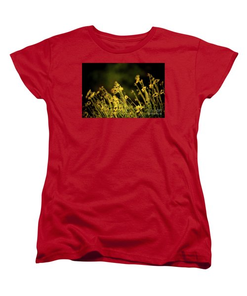 Women's T-Shirt (Standard Cut) featuring the photograph Wild Spring Flowers by Kelly Wade