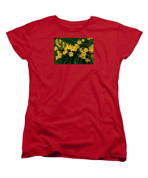 Wildflower Bouquet Women's T-Shirt (Standard Cut) by Linda Edgecomb
