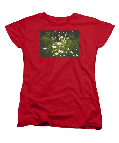 Women's T-Shirt (Standard Cut) featuring the photograph Wildflowers In Summer by Shelby Young