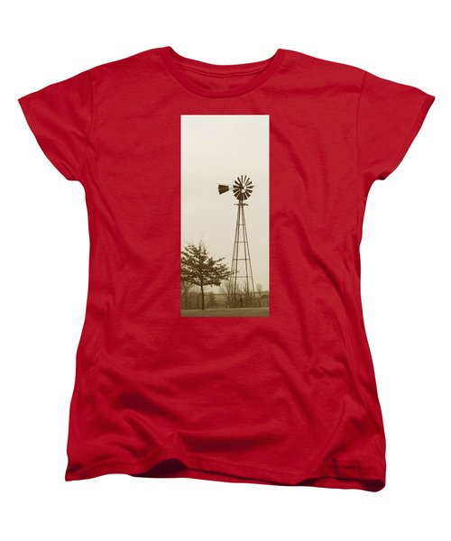 Windmill #1 Women's T-Shirt (Standard Cut) by Susan Crossman Buscho