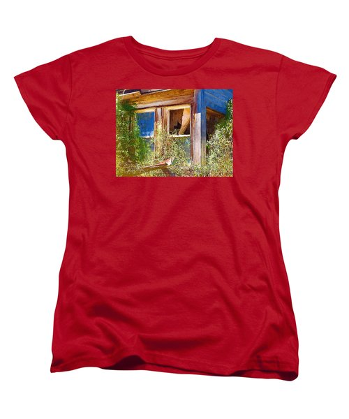 Women's T-Shirt (Standard Cut) featuring the photograph Window 2 by Susan Kinney