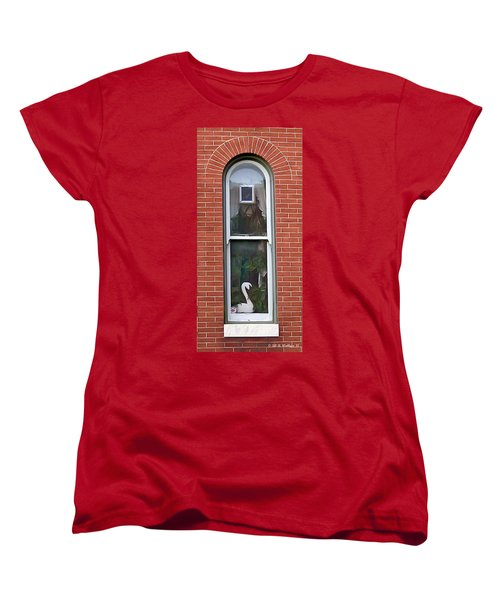 Women's T-Shirt (Standard Cut) featuring the photograph Window Dressing by Brian Wallace